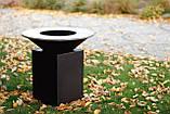 Гриль-мангал, барбекю HOLLA GRILL чёрный, закрытая тумба, фото 10