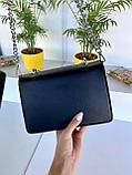 Сумка клатч Чарльз и Кейт классика с цепочкой черная женская, фото 3