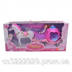 Кукла с каретой и пегасом 686-770/1 (Pink)