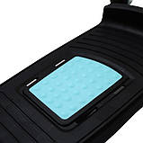 Степпер (мини-степпер) с рукоятками и эспандерами SportVida SV-HK0281 White/Blue, фото 2
