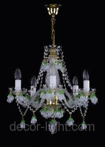 Хрустальная люстра для спальни, зала на 5 лампочек  Adina-5 белая