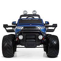 Детский электромобиль джип Monster Truck (Монстер Трак) M 4273ELS-4(24V) покраска синий