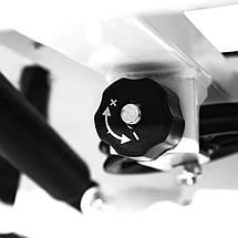 Степпер (міні-степпер) з рукоятками і еспандером SportVida SV-HK0281 White/Blue, фото 2