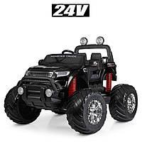 Детский электромобиль джип Monster Truck (Монстер Трак) M 4273ELS-2(24V) покраска черный