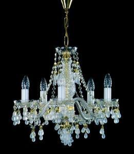 Хрустальная люстра 5 рожковая для спальни, зала с цветным виноградом Rosana-5 белая