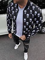 Куртка ветровка бомбер мужская брендовая осень весна копия реплика