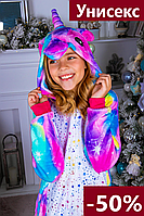 Кигуруми детская единорог для девочек пижама, розовая фиолетовая пижамы кигуруми костюм единорога для детей