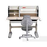 Комплект школьника 👨🏫  парта-трансформер Fundesk Amico Grey + ортопедическое кресло FunDesk Bravo Grey, фото 3