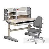 Комплект школьника 👨🏫  парта-трансформер Fundesk Amico Grey + ортопедическое кресло FunDesk Bravo Grey, фото 5