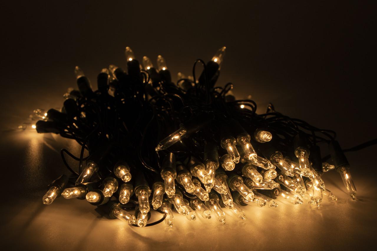 Светодиодная гирлянда обычные лампочек 100Л прозрачная (350513)