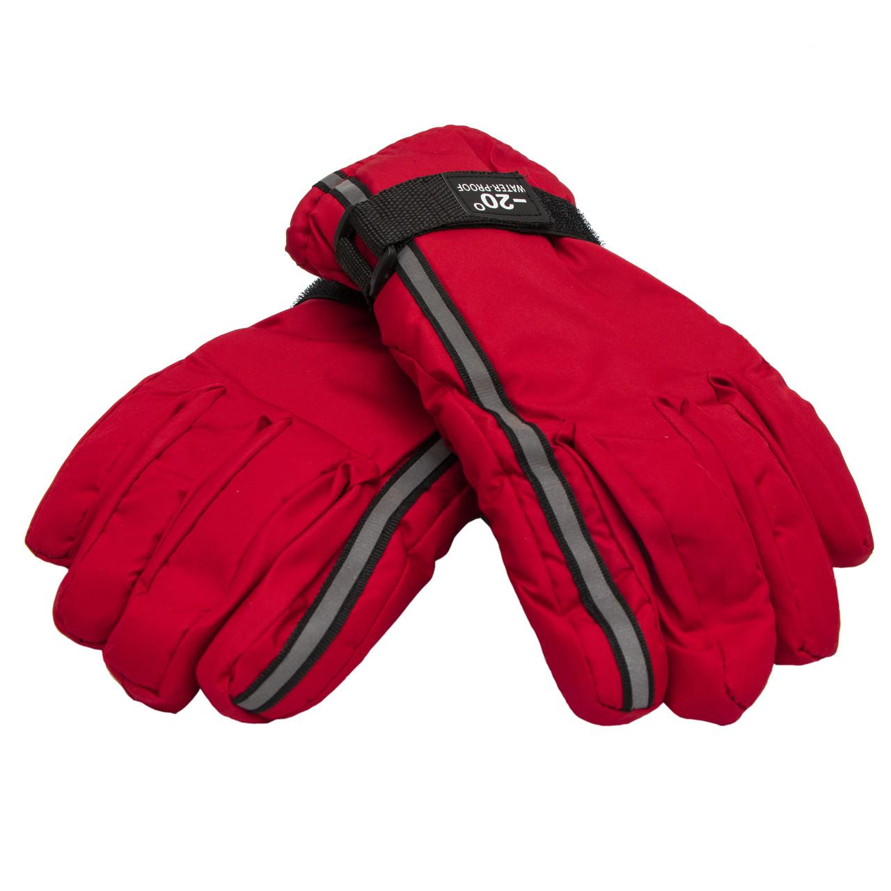 Дитячі рукавички, лижні, червоні, розмір 15 (517229)