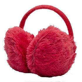 Меховые наушники детские теплые из эко меха, 13*11.5*10,5 см, розовые (240172)