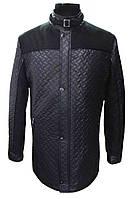 Куртка мужская стеганая № 68з - плащ. стег. чёрная+кашемир
