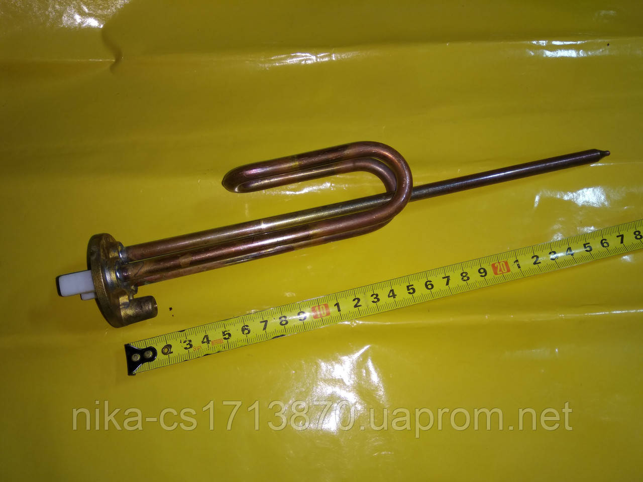 Тэн медный фланцевый для бойлеров 1.5 кВт. / 230 В. производитель Украина Электрон-Т