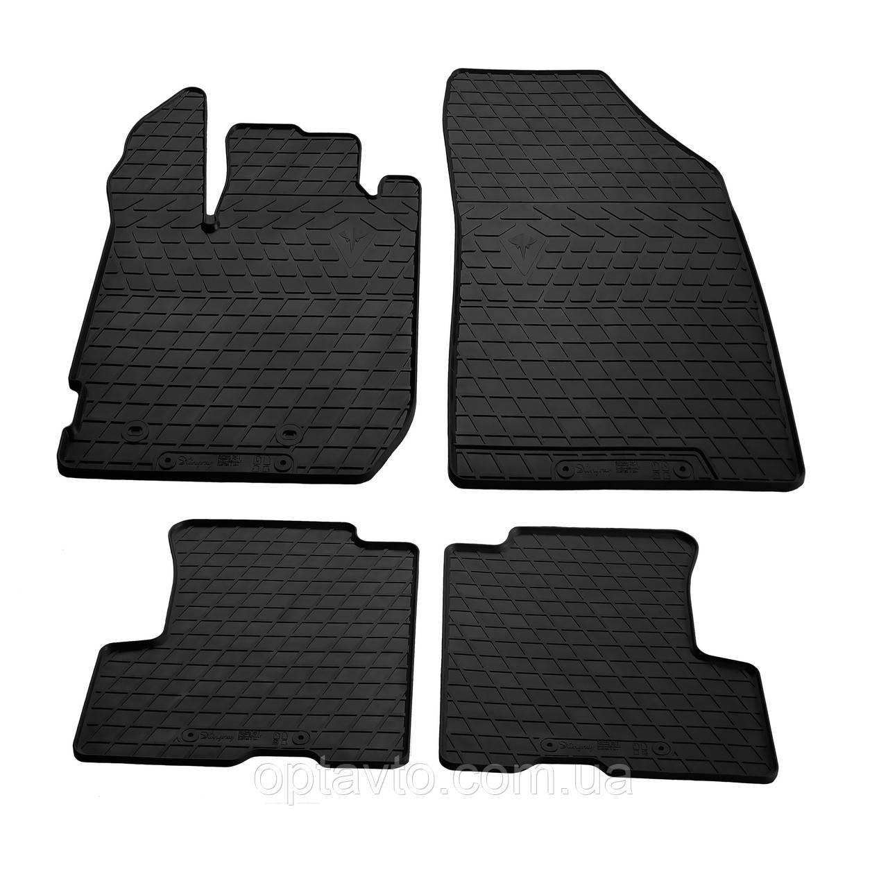 RENAULT Duster II  - комплект качественных резиновых ковриков. Комплект 4 шт.  (2018-...)