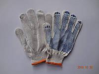 Перчатки белые х/б с ПВХ точкой (упаковка 10 пар)