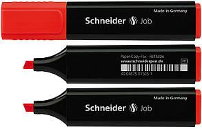 Маркер текстовыделитель Schneider Job 150, красный S1502