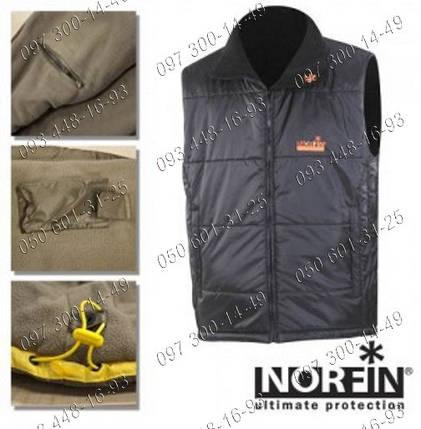 Безрукавный жилет Norfin Vest Black (351003-L) на все случаи жизни Утеплитель thermoguard Ткань: nortex breath, фото 2