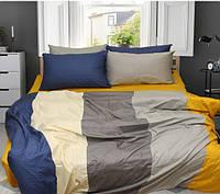 Евро комплект постельного белья (Сатин) ТМ TAG Color mix CM-03