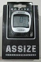 Велокомпьютер, спидометр ASSIZE AS - 505 проводной (11 режимов) (624)