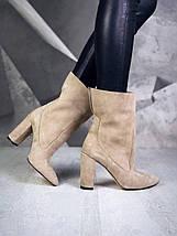 Красивые женские ботинки из натуральной замши с отворотом 36-40 р, фото 3
