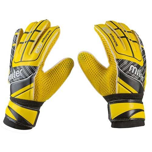 Вратарские перчатки Latex Foam MITER, желтый, р 5