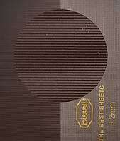 Полиуретан BISSELL, art.30886/97 (линия), 97 Shore A, р. 260*300*6 мм, цв. коричневый