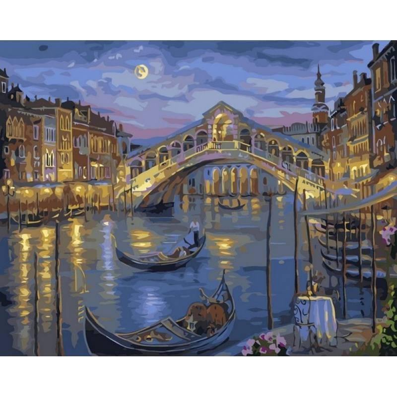 Картина по номерах Babylon Большой канал Венеции.Худ. Роберт Файнэл 40х50см VP041 набір для розпису по номерах в коробці набір для розпису, фарби та