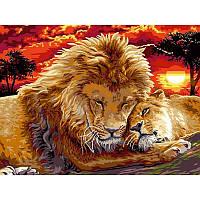 Картина рисование по номерам Babylon Львиная нежность VK102 30х40см набор для росписи, краски, кисти, холст
