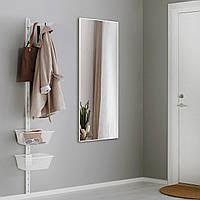 Ростовое зеркало в белой рамке, алюминий, фото 1