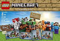 Лего Майнкрафт LEGO Minecraft 21116 Crafting Box, фото 1