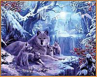 Картина по номерах Babylon Волчья зима В рамке. 40х50см NB1101 набір для розпису по номерах, фарби та пензлі