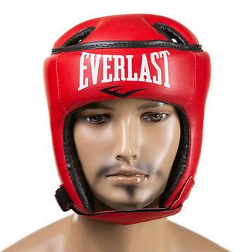 Шлем боксерский открытый Ever Flex (р-р S-L, красный)