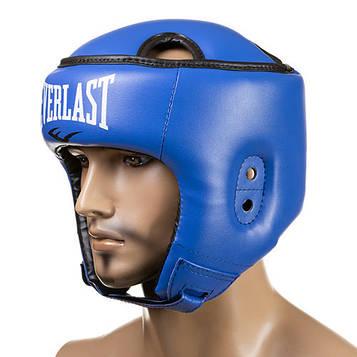Шлем боксерский открытый Ever Flex (р-р S-L, синий)