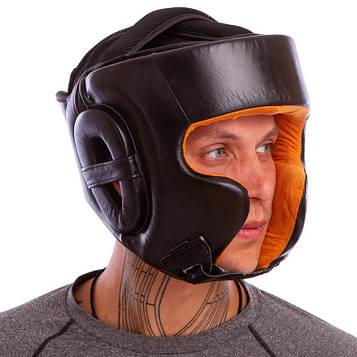 Шлем боксерский в мексиканском стиле кожаный VNM GIANT (р-р M-XL)