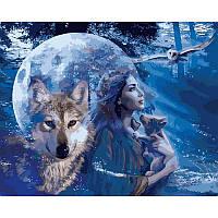 Картина рисование по номерам Babylon Лунный свет 40х50см VP928 набор для росписи, краски, кисти, холст