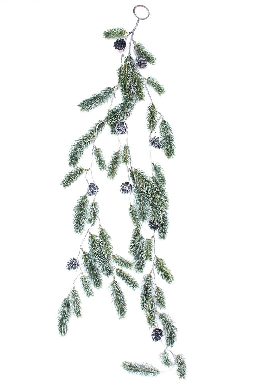 Новогодняя декорация - хвойная веточка, 124 см (170289)