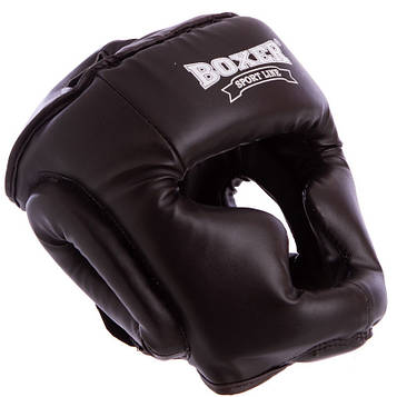 Шлем боксерский с полной защитой Кожвинил BOXER (р-р М-XL)