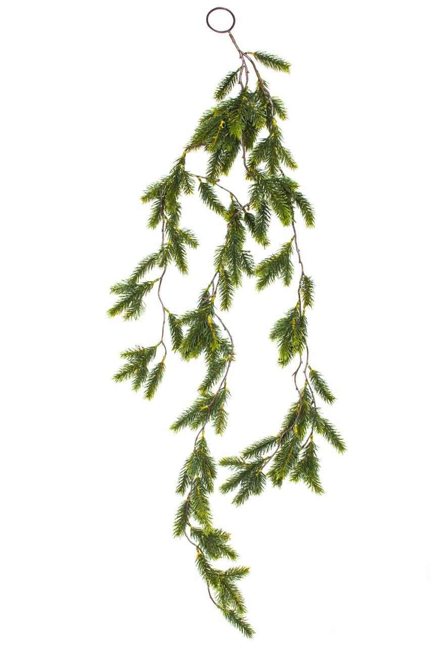 Новогодняя декорация - хвойная веточка, 120 см (170302)