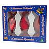 Набор елочных игрушек-конфет 35/100*3 шт., стекло, красный, микс  (390151-9), фото 2