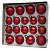 Набір ялинкових іграшок - кулі, 18 шт, D5-6 см, червоний, мікс, скло (390274-5), фото 2