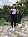 Зимова куртка на дівчинку, чорна, подовжена, фото 2