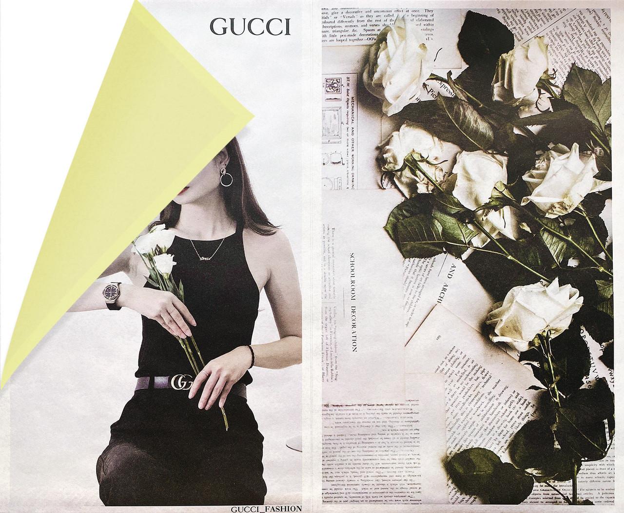 Бумага подарочная Fashion двухсторонняя  52 см х 10 м