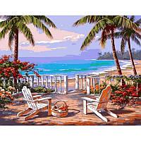 Картина по номерах Babylon Пляж Анатолии. Худ. Ким Сунг 40х50см VP009 набір для розпису по номерах в коробці набір для розпису, фарби та пензлі, фото 1