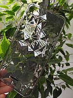 Силиконовый чехол Ромбы 3D Diamond для Xiaomi Redmi 6A, Прозрачно-черный
