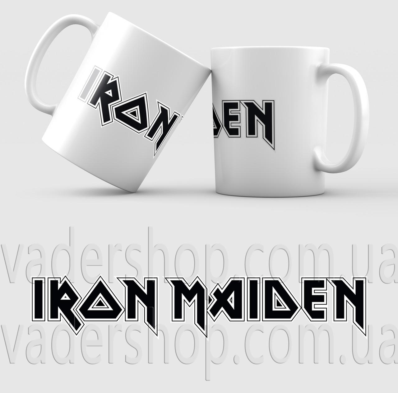 Чашка Iron Maiden. Музыка. Metal. Метал. Чашка с фото