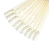 Палитра - веер типсы для лака на кольце на 20 штук МЯГКИЙ КВАДРАТ молочный