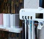 Диспенсер для зубной пасты и щеток автоматический Toothbrush sterilizer (W-020), УФ-стерилизатор, фото 7