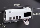 Диспенсер для зубной пасты и щеток автоматический Toothbrush sterilizer (W-020), УФ-стерилизатор, фото 8