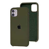 Чехол Silicone Case для iPhone 11 Pro Dark Olive
